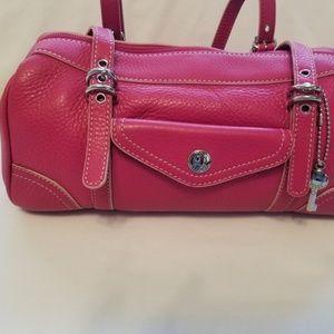 Fossil Pink mini Duffle Hand Bag